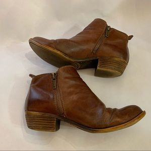 Lucky Brand Basel brown leather ankle boots